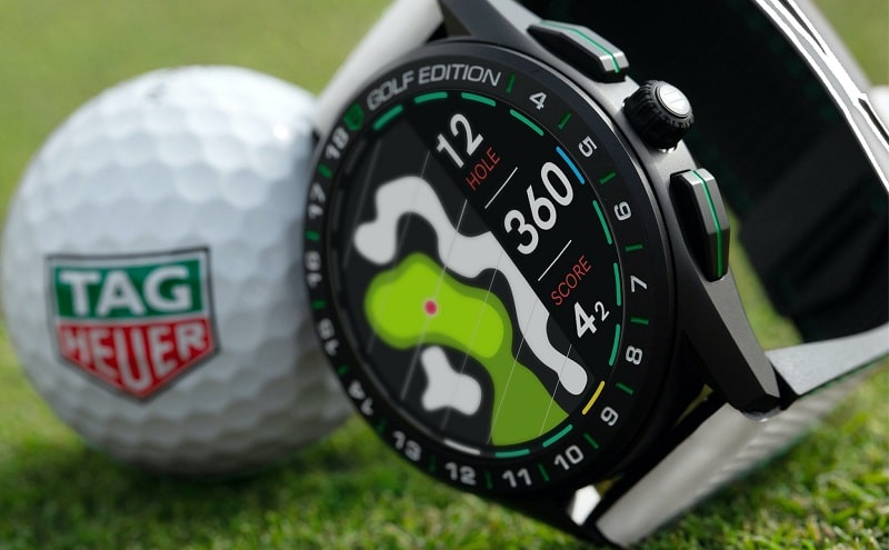 đồng hồ thông minh tag heuer connected golf edition