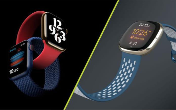 Đồng hồ Apple và Fitbit